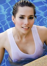 Ladyboy Neung - Wet T Shirt in the Pool