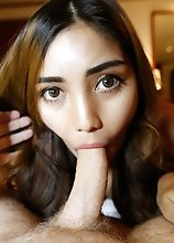 20yo Thai ladyboy beauty blows and gets ass fucked by white cock