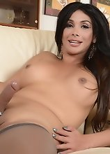 Hot Vaniity posing in stockings