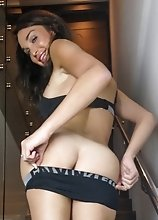 Jonelle in a Sports Underwear Getting Hot and Horny by the Stairs
