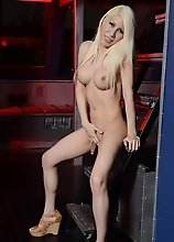 Gorgeous blonde Victoria stripping