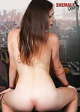 Karma is a stunning tgirl with a sexy body, long hot legs, a sexy firm butt and a delicious cock! Watch this sexy transgirl stroking her sexy dick!